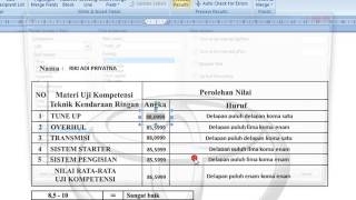 Membulatkan Dan Juga Mengurangi Angka Di Belakang Koma  data mailings di word