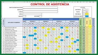 cómo CREAR un REGISTRO DE ASISTENCIA para ALUMNOS en Excel (Paso a Paso 2021)