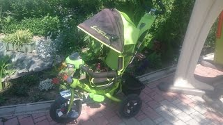Детский трехколесный велосипед  Azimut Lamborghini Trike с фарой- ОБЗОР