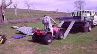 HOW NOT TO LOAD A 4 WHEEL BIKE 0001