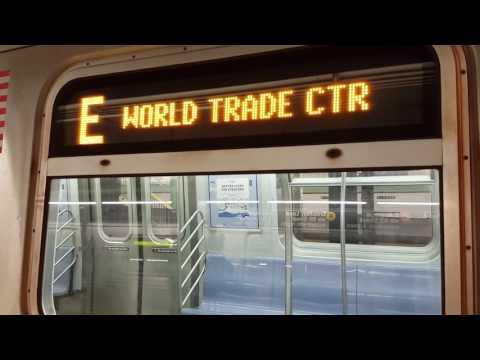 MTA NYC Subway: R160A (E) (F) (M) and R46 (F) (R) trains at Forest Hills - 71 Ave