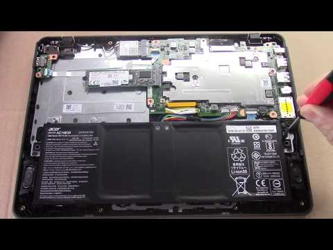 Acer TravelMate B1 (B117-M-C4XR) notebook - How to remove battery | ITFroccs.hu