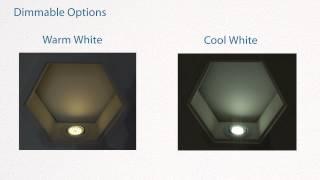 GU10 4w LED Bulbs - Demo of warm white Vs cool white LED