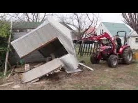 How to take Down a Metal Shed No Tools.