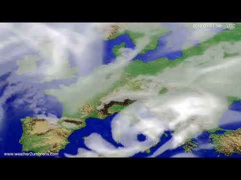 Cloud forecast Europe 2018-03-17