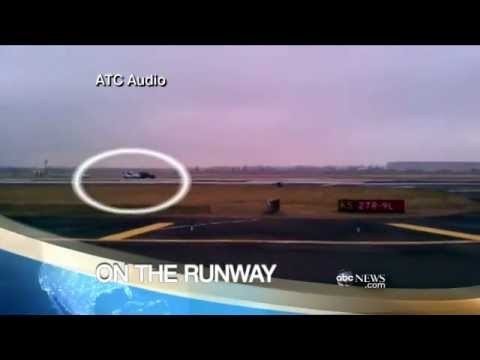 High Speed Chase on Airport Runway Caught on Tape