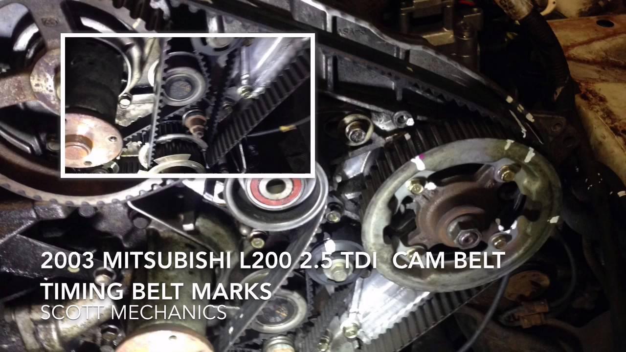 small resolution of mitsubishi l200 2 5 tdi timing belt cam belt