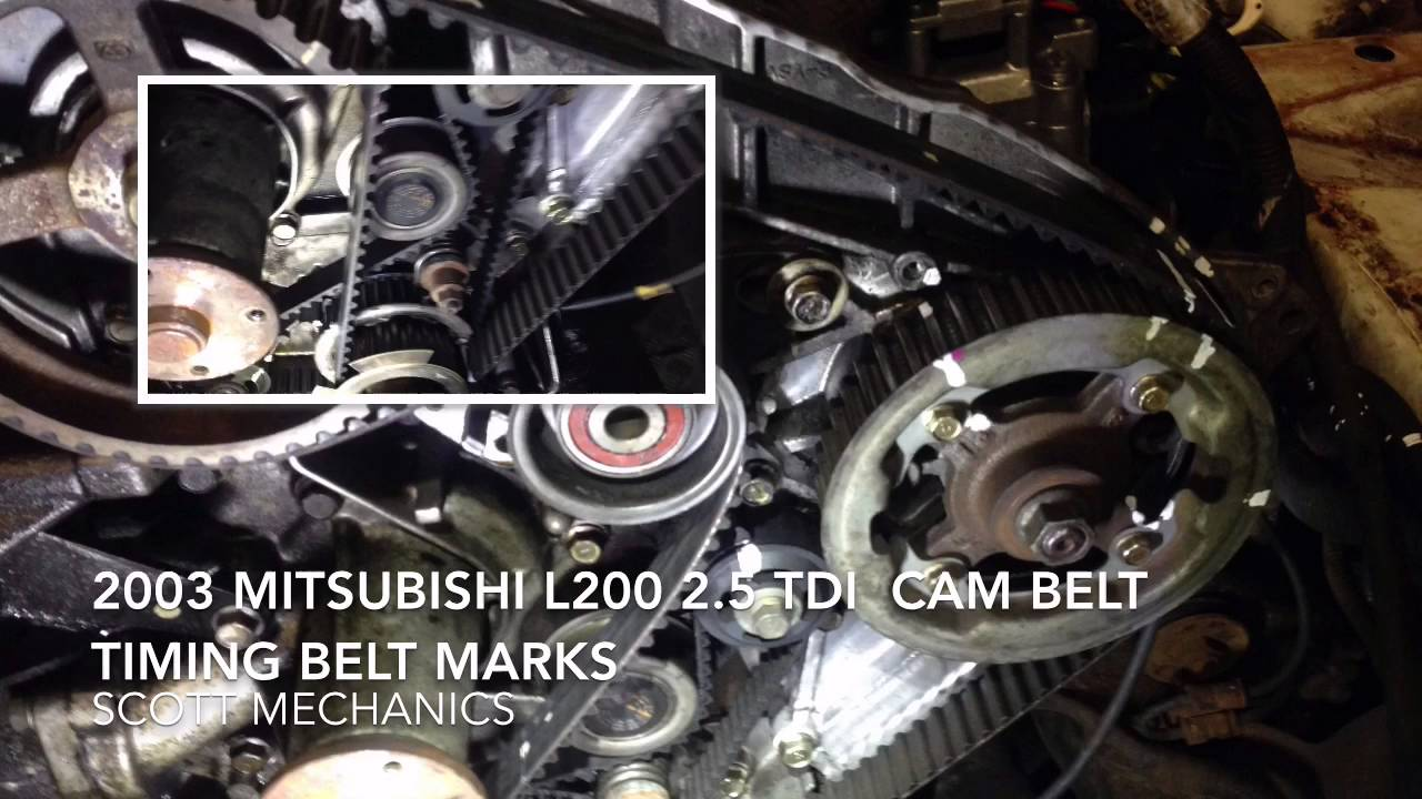mitsubishi l200 2 5 tdi timing belt cam belt [ 1280 x 720 Pixel ]
