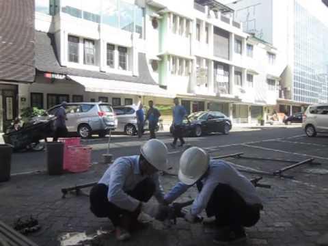 Tes Praktek Interview Jepang Merakit Scaffolding 011 MOKHAMAD AMINUDIN & 001 SUHENDRA とび組立テスト