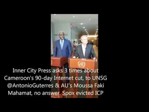 ICP Asks 3 times of Cameroon 90-day Internet cut, to UN Guterres & AU Moussa Faki Mahamat, no answer