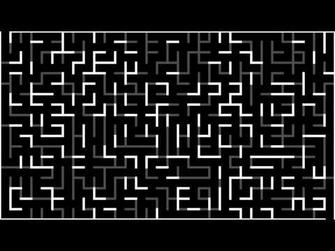 Maze generation with a hybrid of Prim's and Kruskal's algori