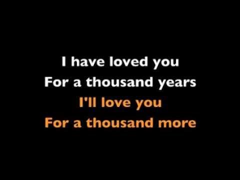 A Thousand Years - Karaoke - Christina Perri -Instrumental