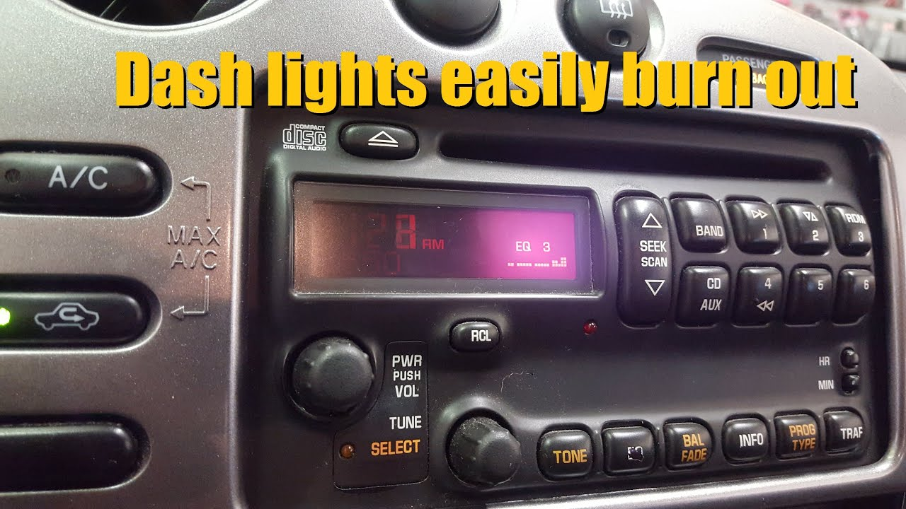 Pontiac Dash Lights Easily Burn Out Early 2000 Models 07 Vibe Fuse Diagram Anthonyj350
