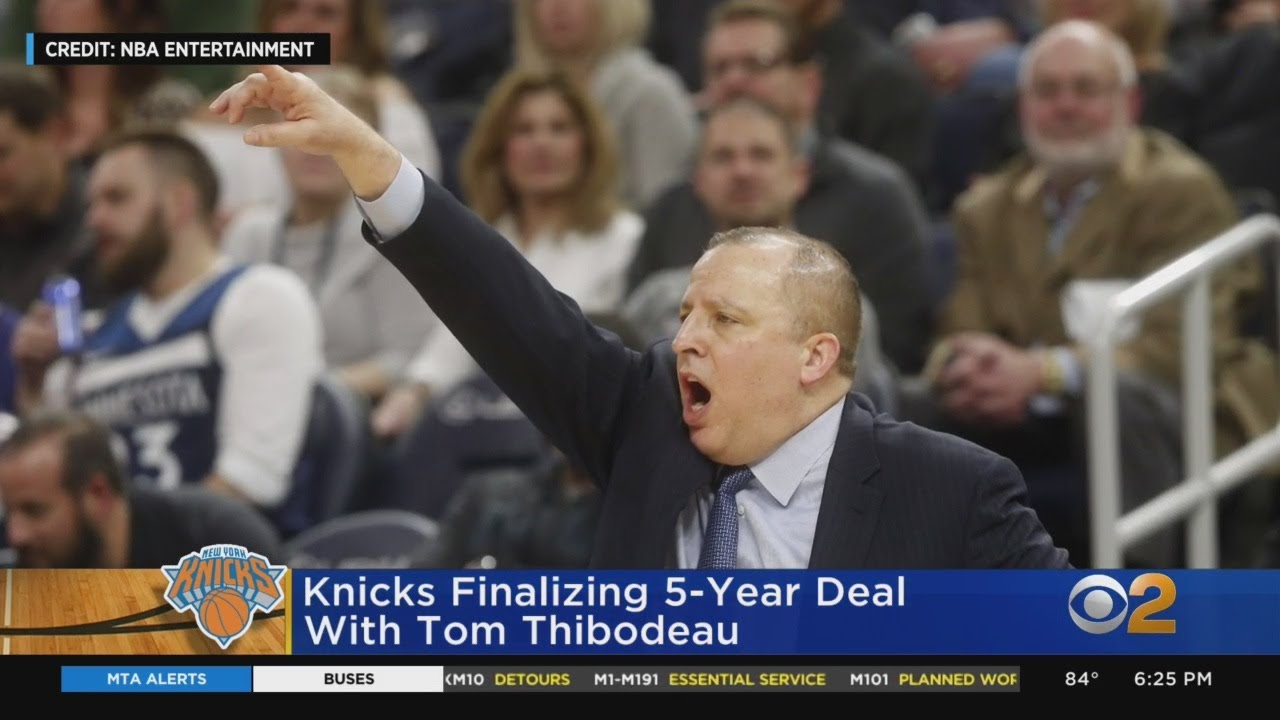 Reports: Tom Thibodeau finalizing 5-year deal to become Knicks ...