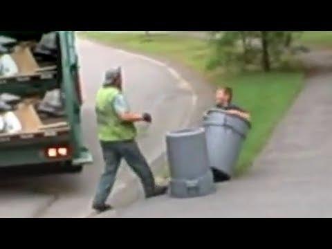 Kameralara Yakalanmış En Sinirli 5 Çöpçü