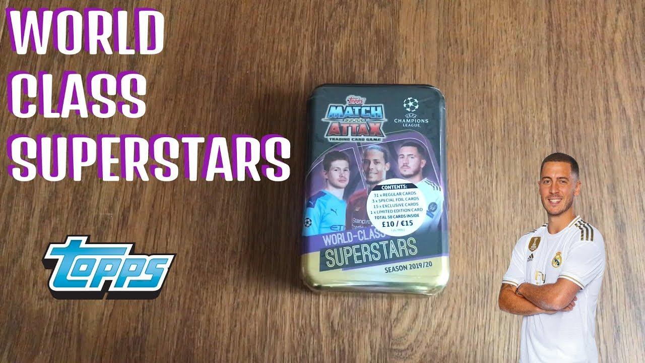 2020 Mega Tin Card List.World Class Superstars Mega Tin Match Attax Champions 19 20 2019 2020