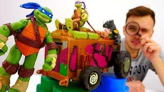 Видео игры. Черепашки Ниндзя ищут свою машинку!