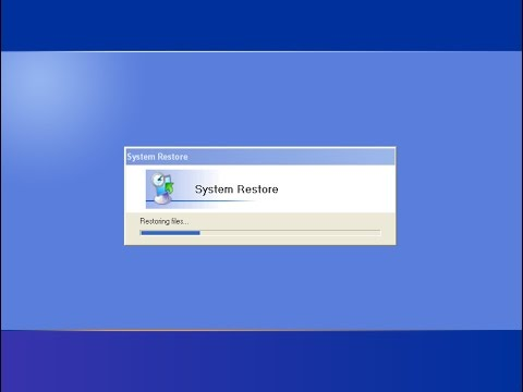 How To Restore Your Computer To An System Restore Point (Windows XP)
