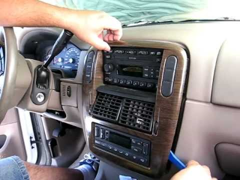 how to remove radio cd changer from 2003 ford explorer for repair rh youtube com