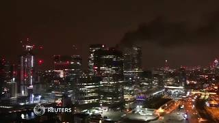 Firefighters called to blaze at building in Canary Wharf area