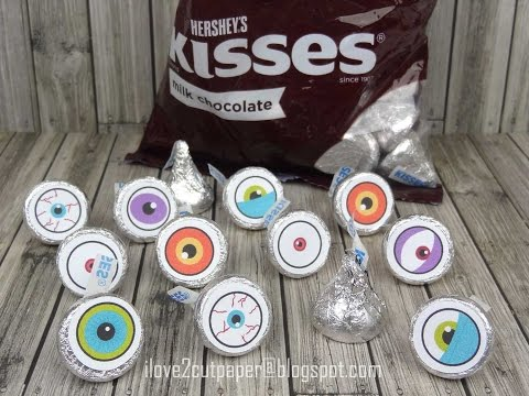 Pazzles Inspiration Vue - PRINT and CUT - Hershey Kisses Toppers