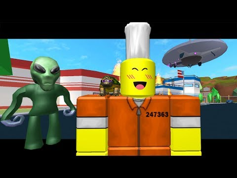 TOFUU STOPS THE ALIENS!? ( A Roblox Jailbreak Movie)