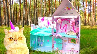 How to build Amazing Kitten Cat Pet house from Cardboard !
