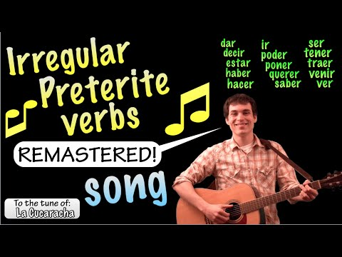 Irregular Preterite Cucaracha Song - Remastered (HD)!