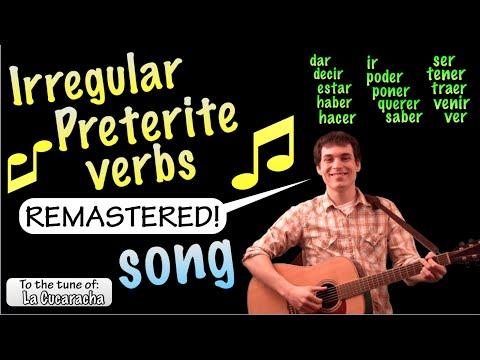 Irregular Preterite Cucaracha Song  Remastered HD!