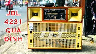 [ Loa kéo bass đôi ] JBL 4231 - Loa karaoke di động 4 tấc đôi công suất lớn