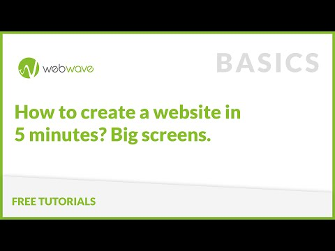 How to create a Website in 5 minutes? Big screens.
