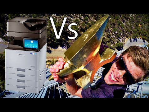 ANVIL Vs. GIANT OFFICE PRINTER 45m Drop Test!!
