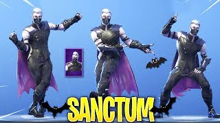 *NEW* SANCTUM SKIN SHOWCASE WITH ALL DANCES/EMOTES! Fortnite Battle Royale