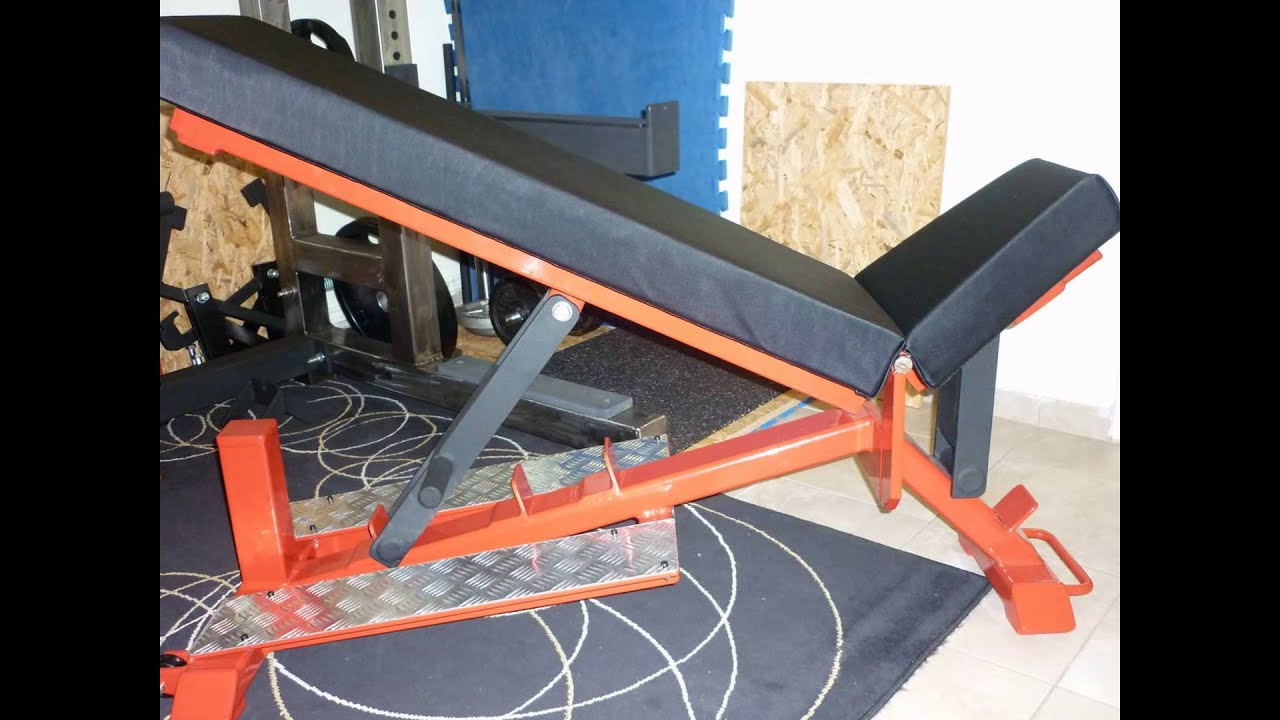 Diy Incline And Flat Powerlifting Bench Youtube