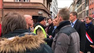 Strasbourg: Florian Philippot privé de manif des retraités