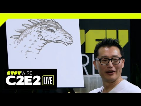 WATCH C2E2: Gene Ha draws a dragon