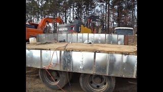 어부바 운반차 적재함 문짝 철판 교환 작업