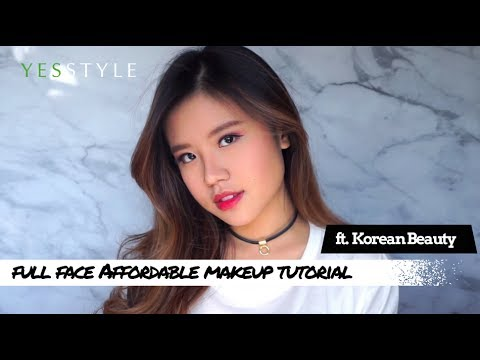 full face affordable makeup tutorial  yesstyle korean