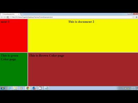 HTML Tutorial In English Part 5(Frames And Frameset)