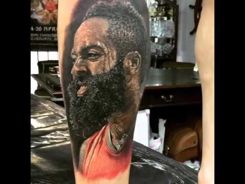 Real life james harden tattoo youtube for James harden tattoo