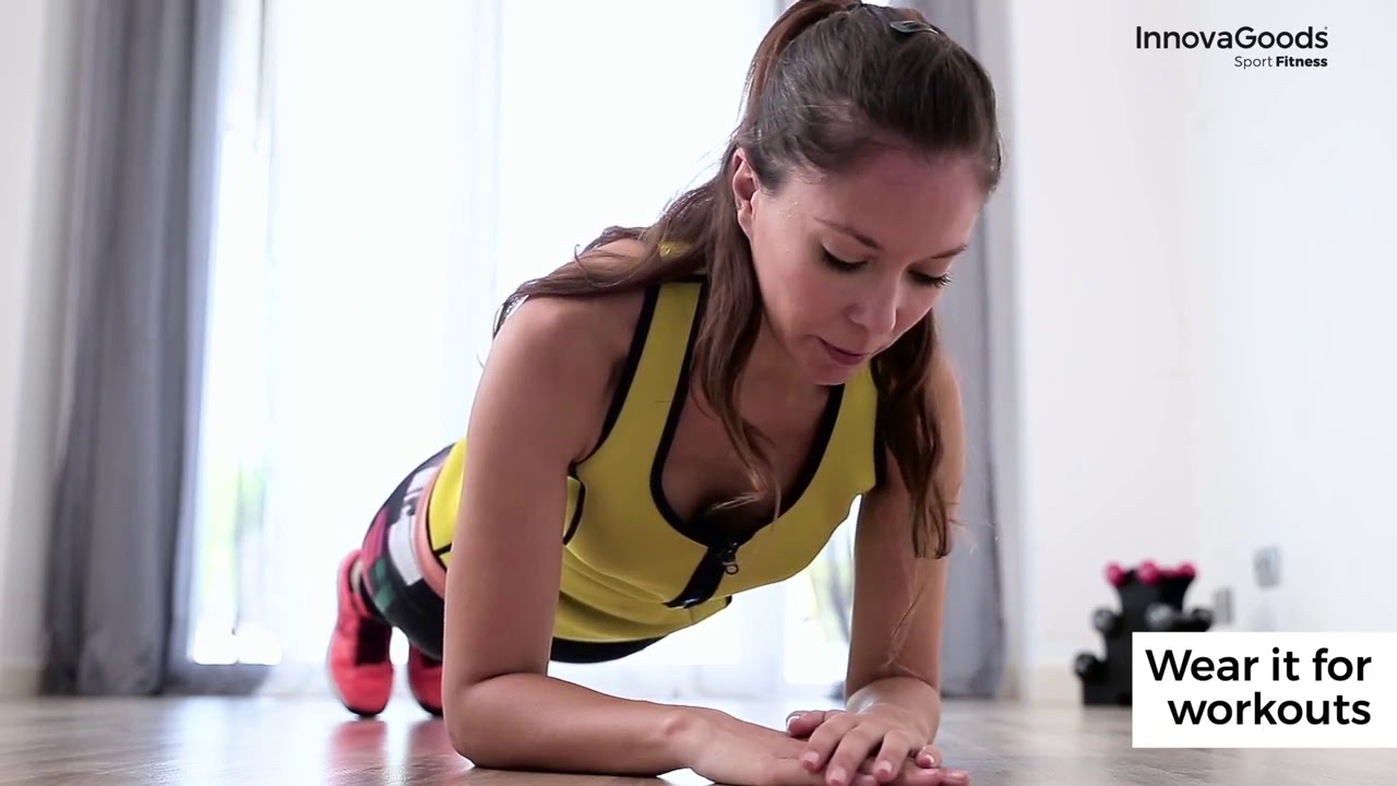 3a175a3430 InnovaGoods Sport Fitness Sauna Waist Training Vest - YouTube