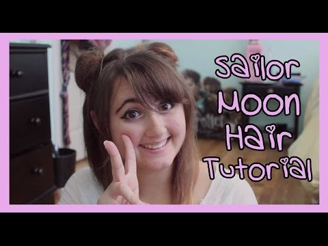 sailor moon hair tutorial