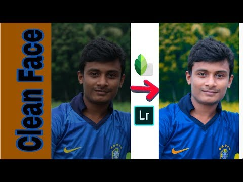 Photo editing tutorial | Lr Lightroom & Snapseed Clean Face | Android