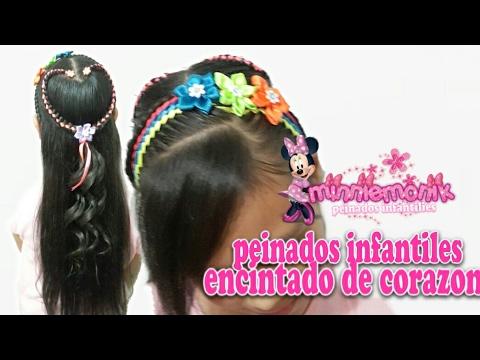 Peinados Para Nina Encintado De Corazon