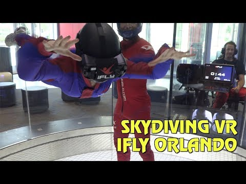 Virtual Reality Skydiving at iFly Orlando
