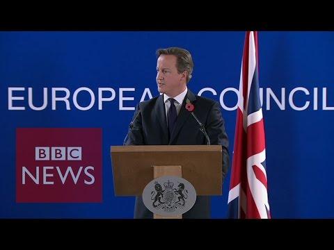 'I'm angry & we won't be paying £1.7bn bill' David Cameron - BBC News