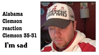 Reaction To Alabama Clemson National championship 2017