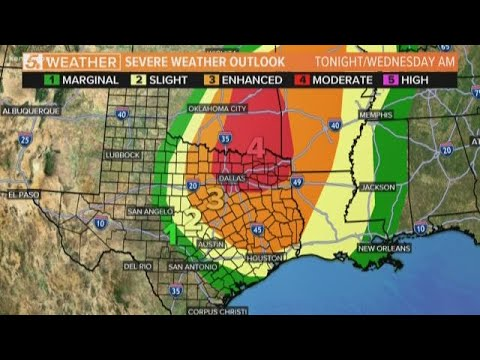 Houston under 'marginal' risk for severe weather Wednesday