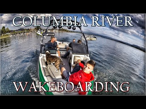 Cliff Jump on Willamette River and Wakeboarding on Columbia River