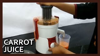 Carrot Juice with Philips HL7715 Juicer Mixer Grinder